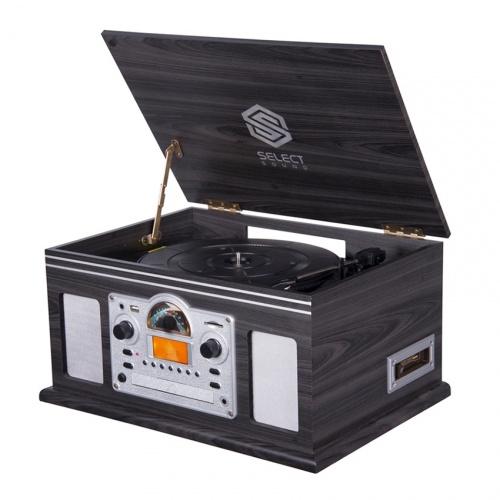 Select Sound BT9200 Tocadiscos, Bluetooth, USB, Negro