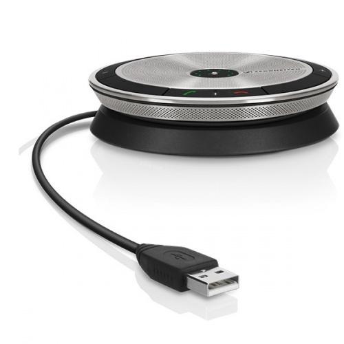 Sennheiser Altavoz SP 10, Alámbrico, USB 2.0, Plata