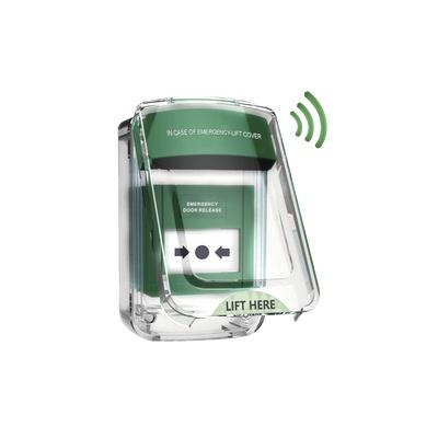 SFire Gabinete para Estación Manual de Emergencia SFSPWSS, Verde/Blanco
