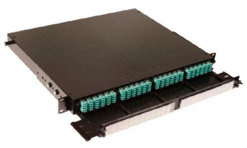 Siemon Panel de 72 Adaptador de Fibra Óptica para Rack, LC, Negro
