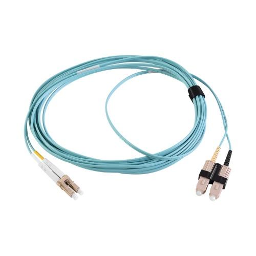 Siemon Cable Fibra Óptica OM3 LC Macho - SC Macho, 3 Metros, Aqua