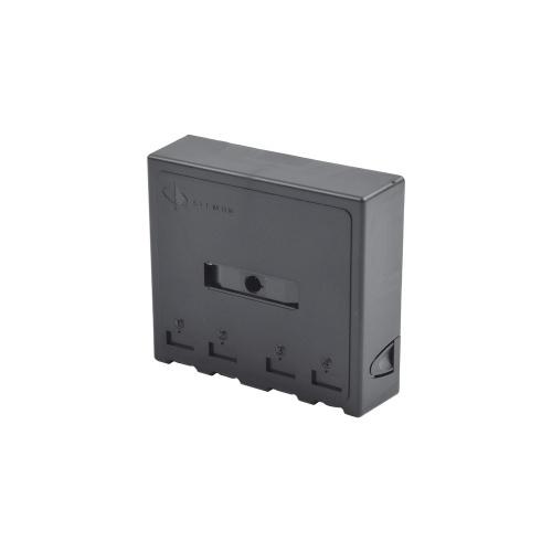 Siemon Caja de Montaje en Superficie RJ-45, 4 Puertos, Negro