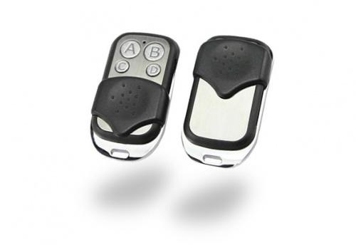 Sonof Control Remoto de 4 Botones, RF Inalámbrico, Negro/Plata