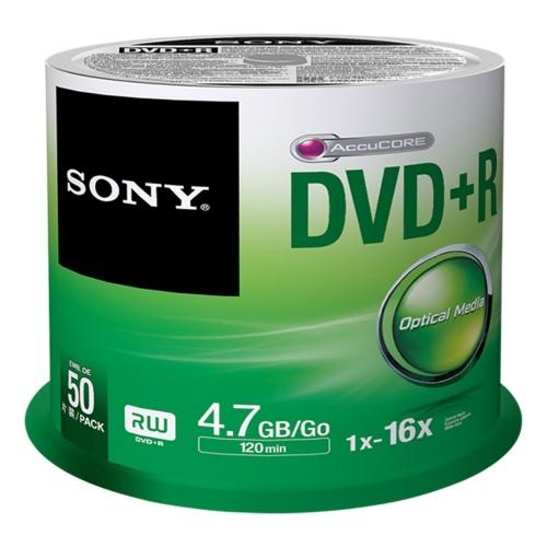 Sony Torre de Discos Virgenes para DVD, DVD+R, 16x, 50 Discos (50DPR47SP)