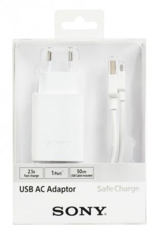 Sony Cargador de Pared CP-AD2A, 5V, 1x USB 2.1, Blanco