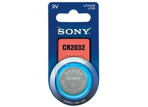 Sony Pila CR2032B1A Botón 3V, 1 Pieza