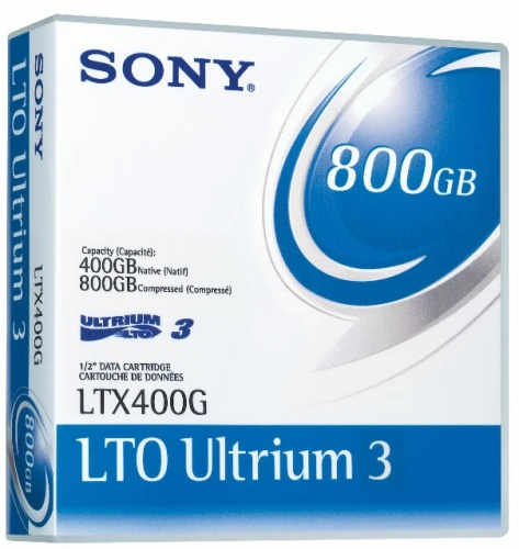 Sony Soporte de Datos LTO Ultrium 3, 400GB