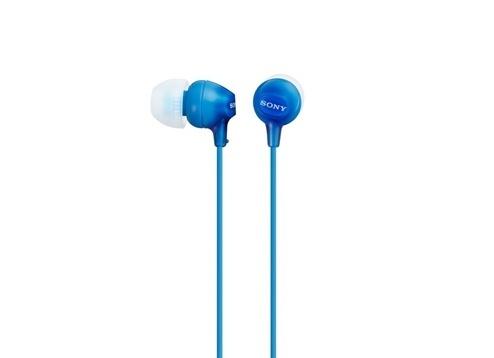 Sony Audífonos MDR-EX15LP/L, Alámbrico, 1.2 Metros, Azul