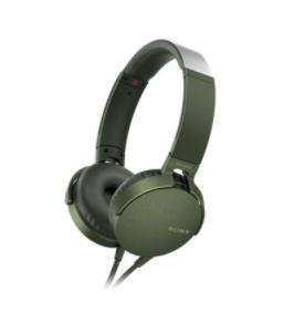 Sony Audífonos con Microfono Extra Bass XB550AP, Alámbrico, 1.2 Metros, Verde