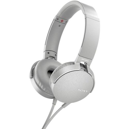 SONY Audífonos MDR-XB550AP, Alámbrico, 1.2 Metros, 3.5mm, Blanco