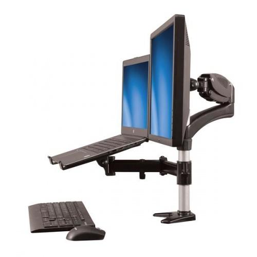 StarTech.com Soporte para Monitor 15''-27'' y Base para Laptop con Ajuste de Altura