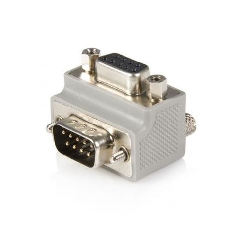 Startech.com Adaptador de Cable DB9 Macho - DB9 Hembra Tipo 2 Acodado a la Derecha