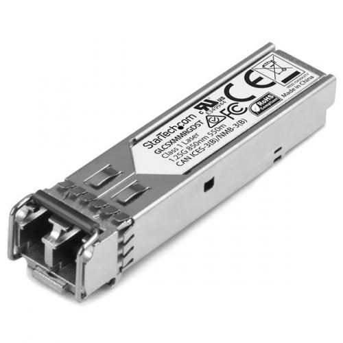 StarTech.com Módulo Transceptor de Fibra SFP 1Gb 1000Base-SX, 550m, 1250 Mbit/s, Compatible Cisco GLC-SX-MM-RGD