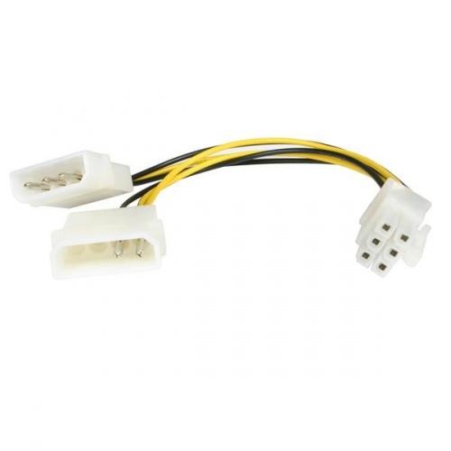 Startech.com Cable de Poder LP4 Molex - PCI Express 6-pin para Tarjeta de Video, 15cm
