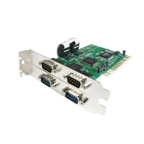 StarTech.com Tarjeta PCI PCI4S550N, Alámbrico, con 4 Puertos RS232