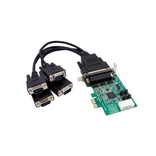 StarTech.com Tarjeta PCI Express Perfil Bajo de 4 Puertos Serie DB9 UART 16950 Serial
