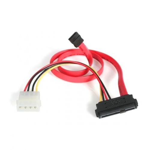 StarTech.com Cable SAS 29-pin - SATA con Alimentación LP4, Rojo