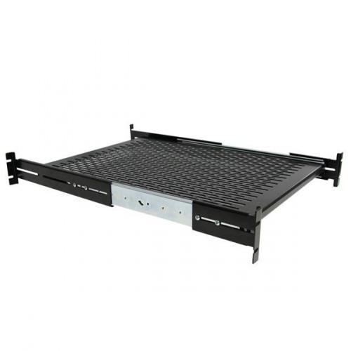 Startech.com Charola Deslizante Perforada Telescópica para Gabinete Rack 2U, max. 22.7KGs