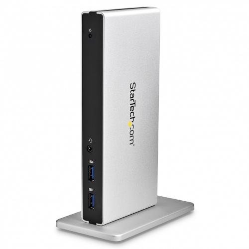 StarTech.com Replicador de Puertos Universal USB 3.0 para Laptop con DVI Doble y Ethernet Gigabit con Adaptadores HDMI VGA