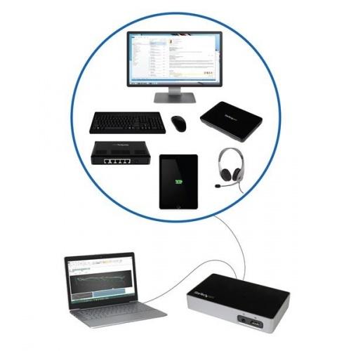 Replicador de Puertos HDMI a USB 3.0 para Ordenadores port/átiles StarTech.com USB3VDOCKH