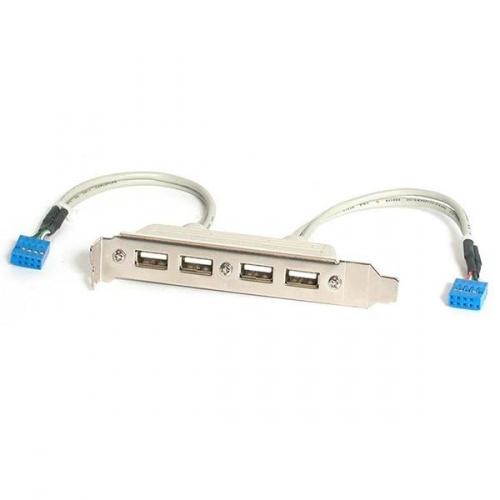 StarTech.com Cabezal Bracket 4x USB 2.0 con Conexión a Placa Base 2x IDC10