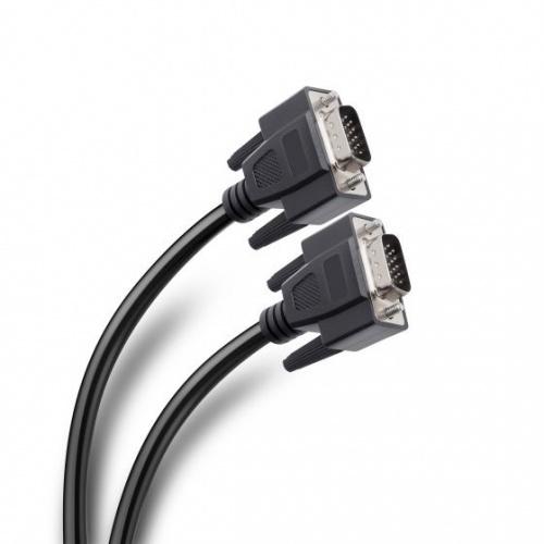 Steren Cable con Conectores Niquelados VGA Macho - VGA Macho, 1.8 Metros, Negro