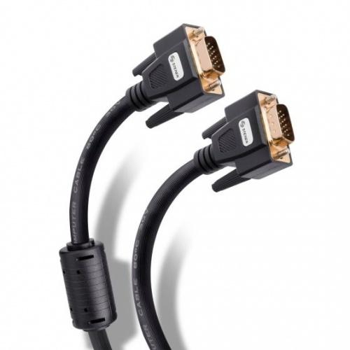 Steren Cable Elite VGA Macho - VGA Macho, 20 Metros, Negro