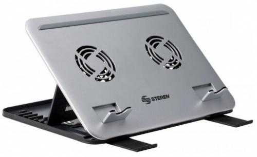 Steren Base Enfriadora para Laptop 17'', 2 Ventiladores 1900RPM, Plata