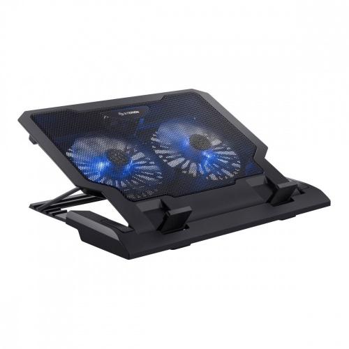 Steren Base Enfriadora COM-098 para Laptop 17'', 2 Ventiladores, Negro