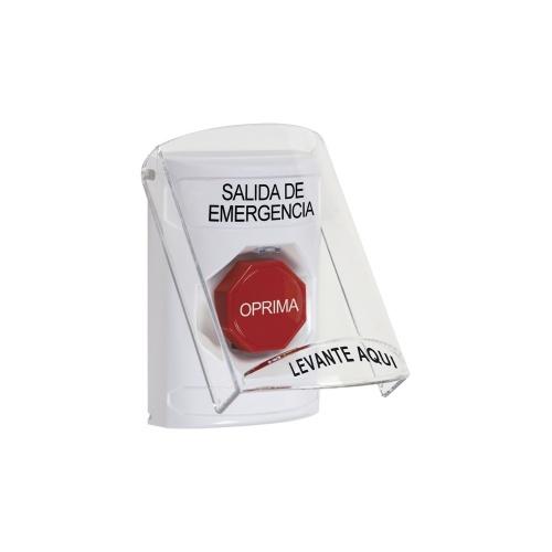 STI Botón de Salida SS-2322-EX-ES, Alámbrico, Rojo/Blanco
