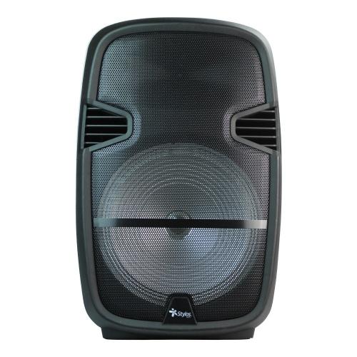 Stylos Bafle Karaoke STABAX3B, Bluetooth, Inalámbrico, USB, Negro