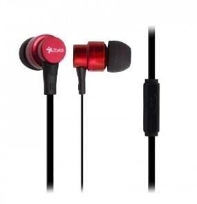 Stylos Audífonos Intrauriculares con Micrófono STSAUA1R, Alámbrico, 1.2 Metros, 3.5mm, Rojo