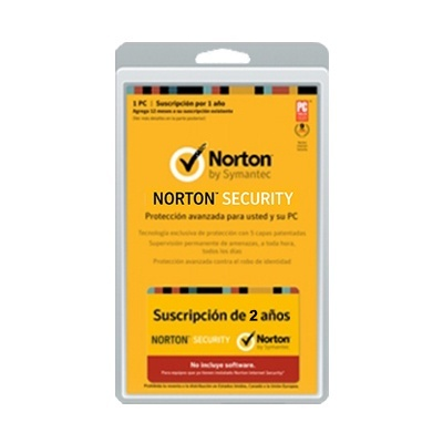 Symantec Norton Security 2.0 Español, 1 Usuario, 1 PC, 2 Años