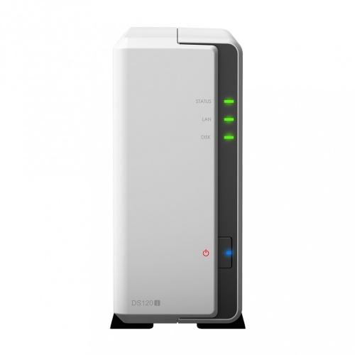 Synology Servidor NAS DiskStation DS120j de 1 Bahía, Marvell Armada 3700 88F3720 0.8GHz, 0.5GB DDR3L, 2x USB 2.0, Gris ― no incluye Discos