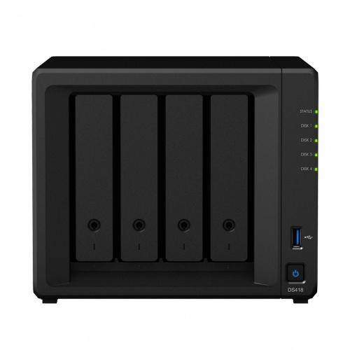 Synology Servidor NAS DS418 de 4 Bahías, Realtek RTD1296 1.40GHz, 2GB DDR4, 2x USB 3.0 ― no incluye Discos