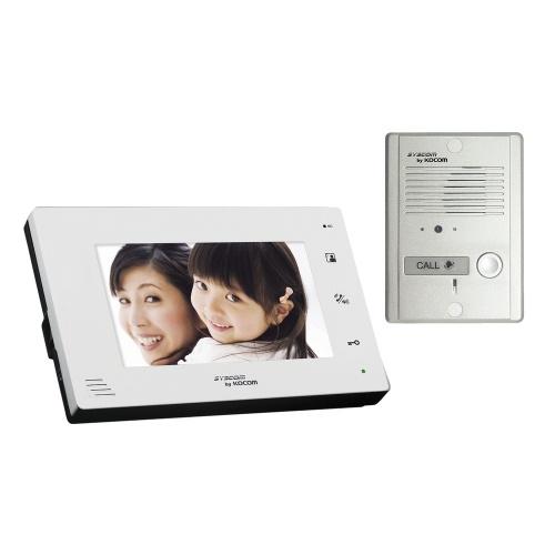 Syscom Kit de Videoportero con Pantalla LCD 7'', Altavoz, Blanco