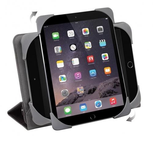 Targus Estuche Fit-N-Grip Universal Giratoria 360° para Tablet 7-8'', Negro