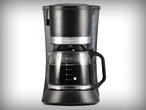 Taurus Cafetera Coffee max 12, 12 Tazas, 1.2 Litros, Negro
