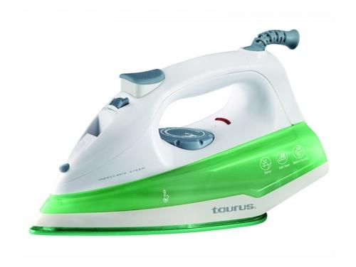 Taurus Plancha Vapor Seco, 1200W, 0.2 Litros, Verde/Blanco