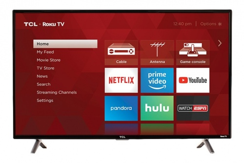 TCL Smart TV LED Roku 40S305 40'', Full HD, Negro