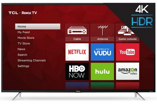 TCL Smart TV LED Roku 65S405 65'', 4K Ultra HD, Negro