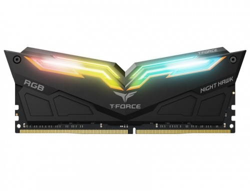 Kit Memoria RAM Team Group Night Hawk RGB DDR4, 3200MHz, 16GB(2 x 8GB), Non-ECC, CL16, Negro