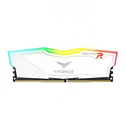 Memoria RAM Team Group T-Force Delta White DDR4, 3200MHZ, 16GB, Non-ECC, CL16, XMP