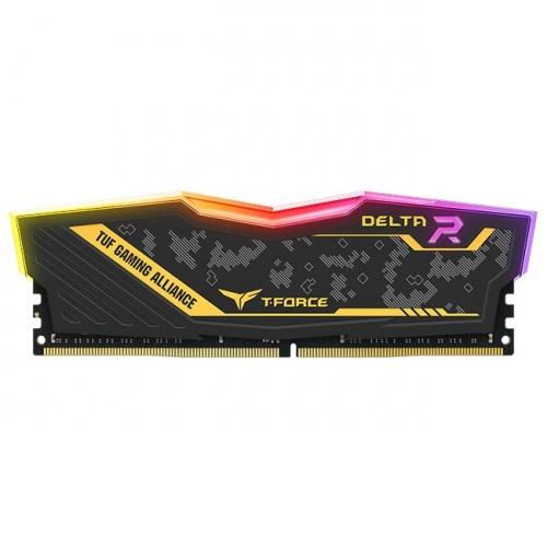 Kit Memoria RAM Team Group Delta TUF DDR4, 3200MHz, 16GB (2 x 8GB), Non-ECC, CL16, XMP, 1.35V