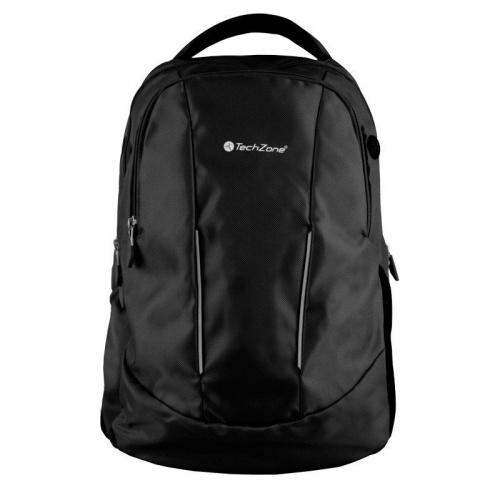 Techzone Mochila de Poliéster TZ17LBP02 para Laptop 15.6'', Negro