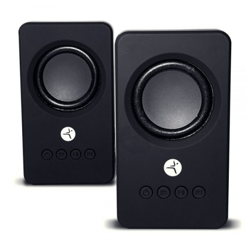 TechZone Bocina TZBOCTWS, Bluetooth, Inalámbrico, 2x3W, 6W RWS, USB, Negro
