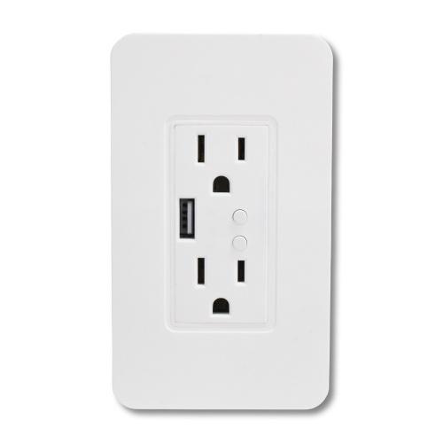 TechZone Smart Plug TZSWTSH02, WiFi, 2 Conectores, 90 - 240V, 15A, Blanco