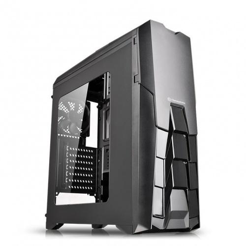 Gabinete Gamer Thermaltake Versa N25 con Ventana, Midi-Tower, ATX/micro-ATX/mini-iTX, USB 2.0/3.0, sin Fuente, Negro