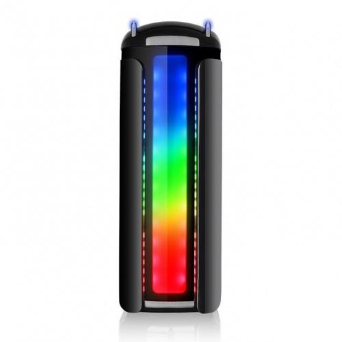 Gabinete Thermaltake Versa C22 RGB con Ventana LED Multicolor, Midi-Tower, ATX/Micro-ATX/Mini-ITX, USB 2.0/3.0, sin Fuente