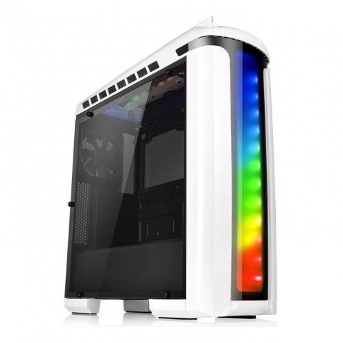 Gabinete Gamer Thermaltake Versa C22 RGB Snow Edition con Ventana, Midi-Tower, ATX/micro-ATX/mini-iTX, USB 2.0/3.0, sin Fuente, Blanco